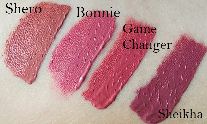 Swatch demi matte Huda Beauty