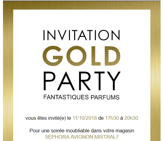 Invitation Gold