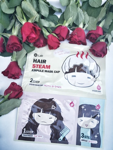 Hair steam ampule mask cap