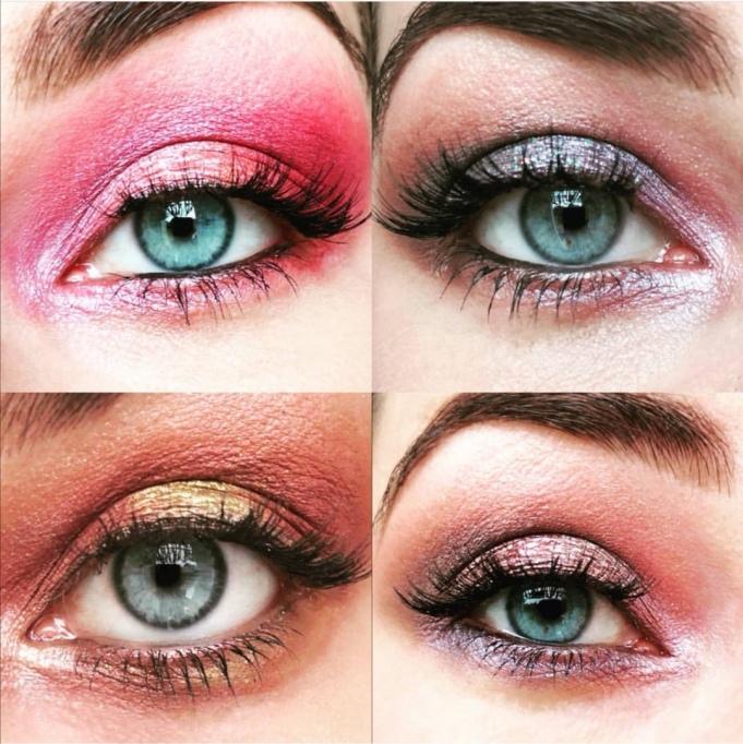 Maquillages avec palette Carli Bybel